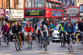 Cyclists in London — Stock Photo