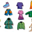 Set of children  clothes - Stock Vector