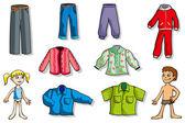 çocuk giysileri kümesi — Stok Vektör