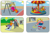 Children in a playground — Stock Vector