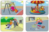 Children in a playground — Stock Vector
