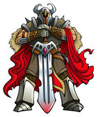 крестоносец рыцарь — Cтоковый вектор