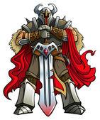 Cavaliere crociato — Vettoriale Stock