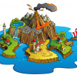 Wonder island - Stock Vector