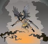 Dark angel — Stock Vector