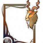 Zodiac frame series: Capricorn — Stock Vector #2915233