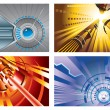 Stock Vector: Abstract tech backgrounds