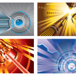 Abstract tech backgrounds — Imagen vectorial