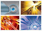 Abstract tech backgrounds — Stock Vector