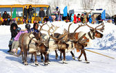 Holiday of peoples of the North in Novyy Urengoy, Russia — Stockfoto