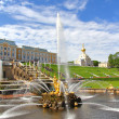 Samson Fountain in Peterhof Palace, Russia — Stock Photo