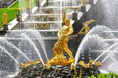 Samson Fountain in Peterhof Palace, Russia — Stock Photo