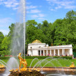 Samson Fountain in Peterhof Palace — Stock Photo