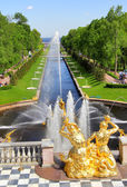Sea Channel in Peterhof Palace — Stock Photo