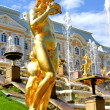 Statue in Peterhof Grand Palace in Russia — Stock Photo #27430733