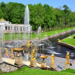 Stock Photo: The Grand Cascade in Peterhof Palace, Russia
