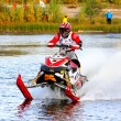 Snowmobile watercross — Stock Photo