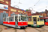 Retro Urban Transport Parade 2013, Saint Petersburg, Russia — Stock Photo