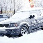 Frozen car — Stock Photo