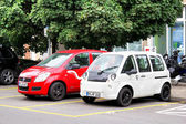 Elektrische auto 's — Stockfoto