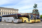 Tourist coaches — Foto de Stock
