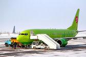 Linka společnosti s7 airlines boeing 737 — Stock fotografie