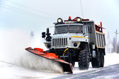 URAL snow removal vehicle — ストック写真