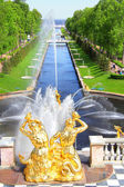The Sea Channel in Peterhof Palace — Stock Photo