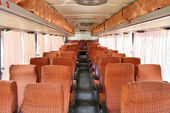 Interior of an interurban coach — Stock Photo