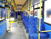 Interior of a city bus — Stock Photo