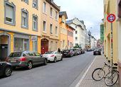 Quiet city street — Stock Photo