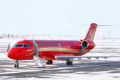 RusLine Canadair Regional Jet CRJ-200ER — Stock Photo