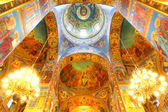 Interior of the Church of the Savior on Spilled Blood in Saint P — Stock Photo