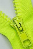Green zipper — Stock Photo