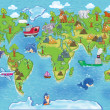 Kids world map — Stock Photo