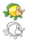 热带鱼着色 — 图库矢量图片