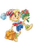 Pinokio idzie do szkoły — Zdjęcie stockowe