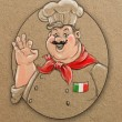 Sketching style illustration of Italian chef — Stock Photo