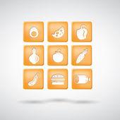 Potraviny ikony. sada 1 — Stock vektor