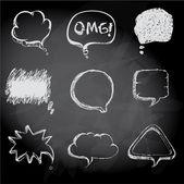 气泡草绘上粉笔板背景样式 — 图库矢量图片