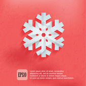 Christmas Snowflake on pink background — Stock Vector
