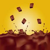 巧克力飞溅。矢量插画 — 图库矢量图片