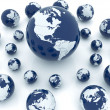 Earth globes — Stock Photo #44154017