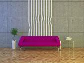 Stedelijke interieur met sofa — Stockfoto