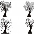 Black season tree - Stockvectorbeeld