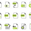 Files icon set,green series - Stock Vector