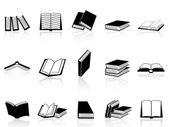 Boek icons set — Stockvector