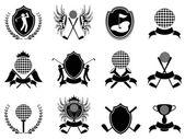 Black golf insignia — Stock Vector