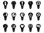 Light bulb idea icons set — Stock Vector
