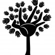 Royalty-Free Stock Vectorielle: Hands tree